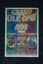 Johnny Cash Poster With Bob Dylan 1969 Grand ole Opry