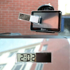 Digital LCD Car Clock Windscreen Electronic Clock with Suction Cup