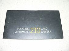 Original Vintage Polaroid Automatic 210 Camera Instruction Manual~VG Condition