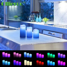 Ollieroo 2Set 6 LED Color Flameless Candle Candles With Remote Control Change