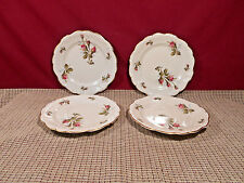 """Rosenthal China Moss Rose (Ivory) Set of 4 Bread Plates 6 1/4"""""""