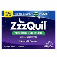 Vicks ZzzQuil Nighttime Sleep Aid 48 Liquicaps Exp 04/2018 zquil nyquil night