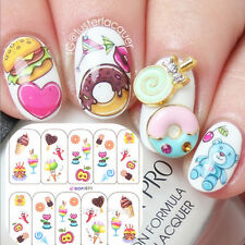 1Sheet Yummy Icecream Cake Pattern Nail Art Water Decals Transfers Stickers