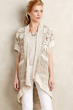 "$198 NWT ANTHROPOLOGIE ""Crocheted Lana Cardigan"" by Angel of the North sz. PM"
