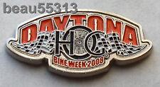 HARLEY DAVIDSON OWNERS GROUP HOG DAYTONA 2008 VEST HAT JACKET PIN