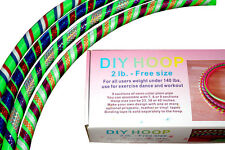 Weighted DIY Hula Hoop 2B - 2 lb. adjustable diameter, Green. 2 Tapes included