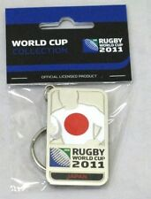 33658 RUGBY WORLD CUP 2011 JAPAN SILVER JERSEY FLAG KEYRING KEY RING
