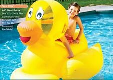 Giant Inflatable Ducky Water Float Toy for Swimming Pool & Beach