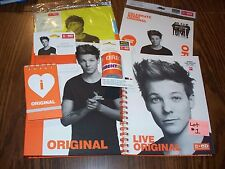 Lot of One Direction School Supplies Featuring Louis