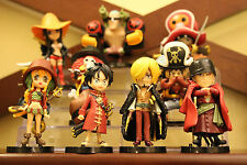 9pcs One Piece Anime The New World Z Luffy Nami Zero Brook pvc mini figure set