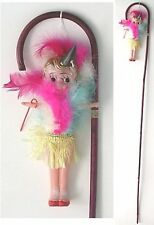 Vintage Original STATE FAIR CARNIVAL DOLL Celluloid Toy with Carney CANE 1930s