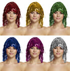 TINSEL WIGS 6 COLOURS HEN/STAG PARTY RED NOSE UNISEX ST PATRICKS FANCY DRESS