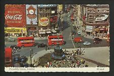 Coca Cola Coke postcard Piccadilly Circus London Wrigley's gum Guinness Beer