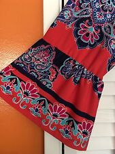 3X/2X New Peasant Top Floral Dress Sundress Blue Coral White Boho 20/22