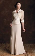Montage by Mon Cheri CAFE Mother of BRIDE 18 gown beaded jacket gown~Retail $550