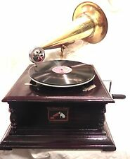 ANTIQUE GRAMOPHONE PHONOGRAPH BRASS GRAFTED HORN SOUND BOX NEEDLES