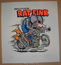 Ed Big Daddy Roth Brother Rat Fink Poster Print Signed Numbered 1992 Hot Rod