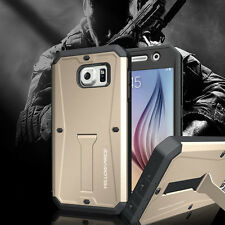 Samsung Galaxy S6 G920 Hard Defender kickstand Case Water Resist Cover Dust Cap