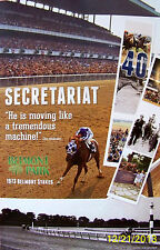 SECRETARIAT 40th ANNIVERSARY POSTER 1973 BELMONT STAKES - Genuine Racetrack Item