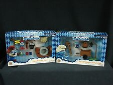 The Smurfs Movie Playset Lot 2013 Papa Smurfs Lab & Smurf Village Construction