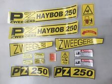 PZ Haybob 250 stickers / decals