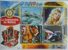 Concorde plane B. Bardot R. Moore 007 Bond Formula 1 car Rotary m/s MNH M0847