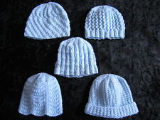 Premature Small Baby Knitting Pattern For 5 Hats - 4 ply