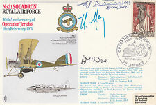 Rare RAF21c Operation Jericho Signed E Townesend WW1 Pilot, H Moisin Interned Am