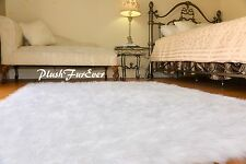 Large 8x10 Area Rug Luxury Shaggy Faux Sheepskin Fur Bedroom Premium Home Rug