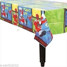 POWER RANGERS PLASTIC TABLECOVER ~ Birthday Party Supplies Room Decoration Cloth