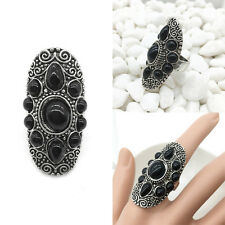1x Punk Style Vintage Boho Ethnic Tribal Gypsy Armour Knuckle Carved Finger Ring