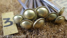 """10 x 3"""" VINTAGE RARE NOS  ROUND WIRE NAILS BRASS HEAD EMPIRE PICTURE NAIL 3"""