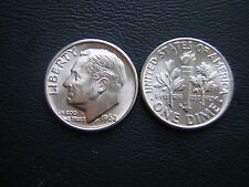 1~1962 d Roosevelt Bu + Dime > uncirculated ! Sweet & Silver !