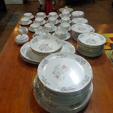 93pcs Vintage Flair Fine China Blossom Time #8145 dishes floral dish set