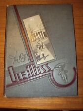RARE Vintage 1937 OLE MISS Yearbook University of Mississippi First Colonel Reb!