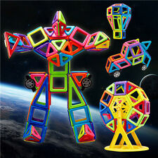 76 PCS DIY 3D Multicolour Magnetic Blocks Construction Building Kids Toy Puzzle