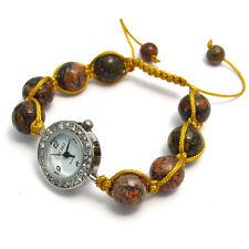 """ECHO """"Hermosa Semipreciosas Shamballa Estilo Reloj Y Pulsera Set No. 1"""