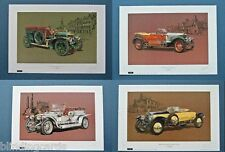 ROLLS ROYCE Set of four Art Prints - 20hp, Silver Ghost, Alpine Eagle & Phantom