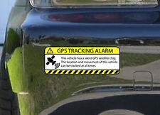 Warning GPS Tracking Alarm Decal Anti-Theft Decal Sticker for Car (GPSyellow)
