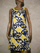 CHIC VINTAGE ROBE PIQUé COTON 1970 VTG POP DRESS 70s KLEID 70er ABITO (38)