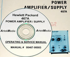 HP  467A Power Amplifier & Supply  Ops-Service manual