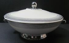 Covered Bowl Of Taylor Smith & Taylor China Trimmed in Silver # 1872