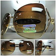 VINTAGE RETRO Style SUN GLASSES Gold Metal Frame Jaguar Emblem BOLD SEXY FASHION