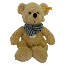 Steiff 117527 Fynn Teddy Bear Beige Blue Striped Bandana