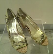 ANNE Klein peep toe leather shoes sizeUK 3 EU 35.5 American 5.5