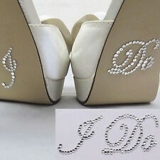 I DO Clear Diamante Crystal Bridal Wedding Shoe Decoration Sticker UK FREE POST