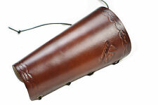 Brown Cow Leather Arm Protector Hunting Arm Guard for Shooting Archery Accessory