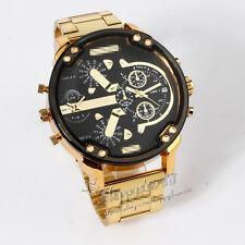 Sport del quarzo orologio d'oro in acciaio inox militare uomo CTY