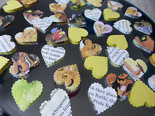 75 DISNEY LION KING TABLE BABY  PAPER HEARTS  BIRTHDAY CONFETTI DECORATIONS