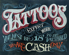 Tattoo Shop Policy Print  art decor print vintage  style ink flash  poster